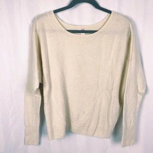 Victoria's Secret Boxy Cream Cashmere Sweater M